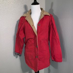 Small red woolrich jacket